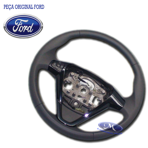 VOLANTE DE DIRECAO (PRETO BRILHANTE) ( FORD KA 2015/...SEDAN